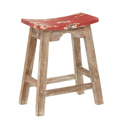 Metro 23.75 Bar Stool Upholstery: Rustic Red