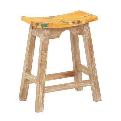 Metro 23.75 Bar Stool Upholstery: Rustic Yellow