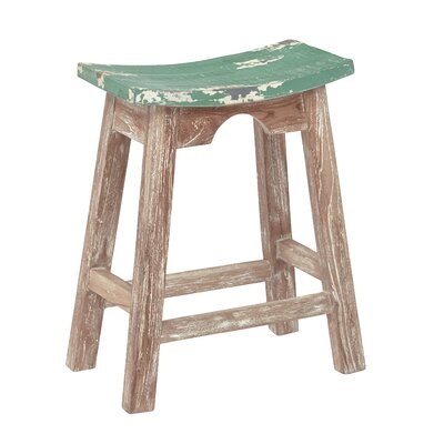 Metro 23.75 Bar Stool Upholstery: Rustic Green