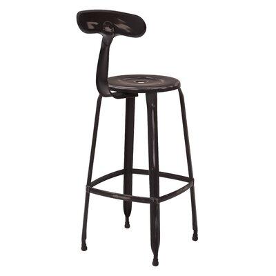 Lexington 30 Bar Stool Color: Antique Black