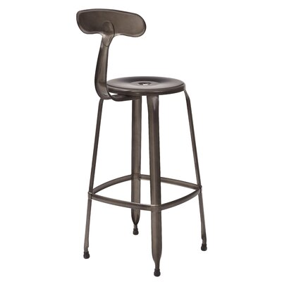 Lexington 30 inch Bar Stool Color: Gunmetal