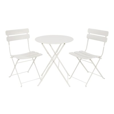 3 Piece Bistro Set Finish: White