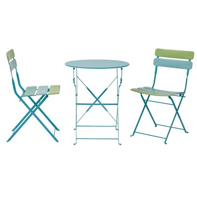 3 Piece Bistro Set Finish: Blue / Green