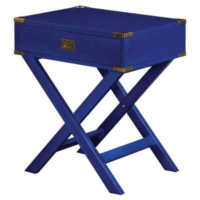 Harrison End Table Color: Lapis Blue