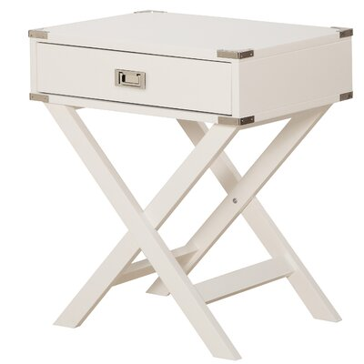 Harrison End Table Color: White