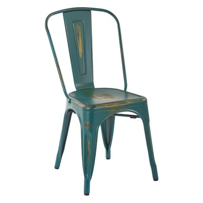 Fineview Side Chair Finish: Antique Turquoise