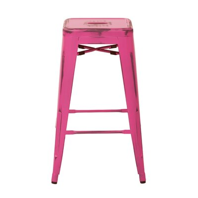 Isabel 26 Bar Stool Finish: Antique Pink