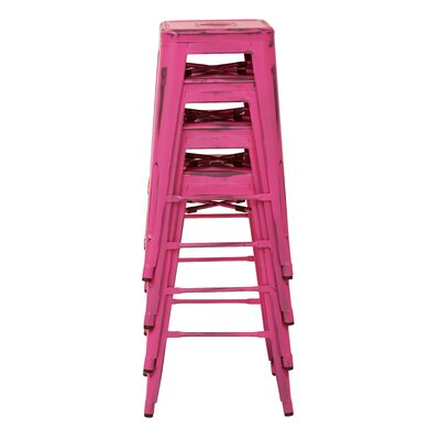 Isabel 30 inch Bar Stool Finish: Antique Pink
