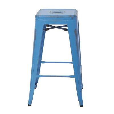 Edgewater 26 inch Bar Stool Finish: Antique Royal Blue