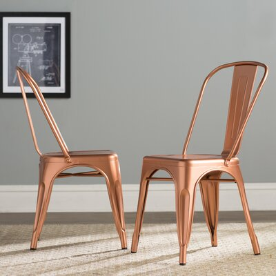 Fineview Side Chair Finish: Copper