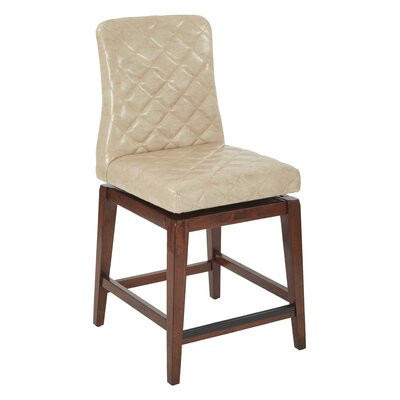 Lamont 25 Swivel Bar Stool Upholstery: Beige