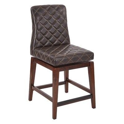 Lamont 25 Swivel Bar Stool Upholstery: Espresso