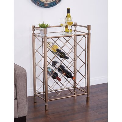 Cotgrave 17 Bottle Floor Wine Bottle Rack Finish: Champagne