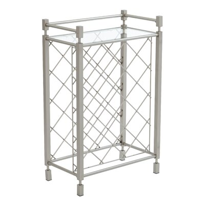Cotgrave 17 Bottle Floor Wine Bottle Rack Finish: Nickel