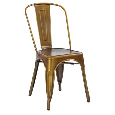 Krishtha Armless Dining Chair Color: Brushed Copper
