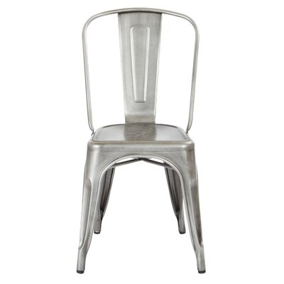 Krishtha Armless Metal Dining Chair Color: Brushed Steel