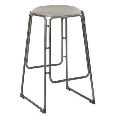 Kashmira 27 Bar Stool Upholstery: Ash