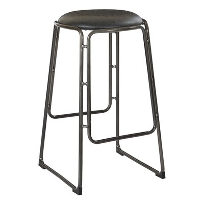 Kashmira 27 Bar Stool Upholstery: Black
