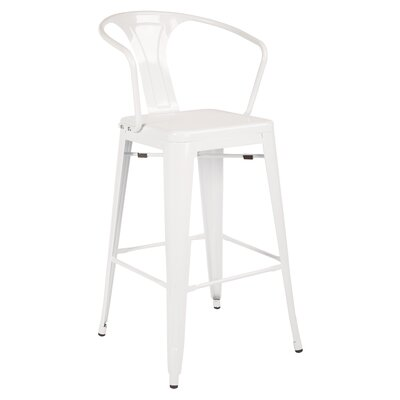 Wilkinson 30 Cafe Bar Stool Color: White