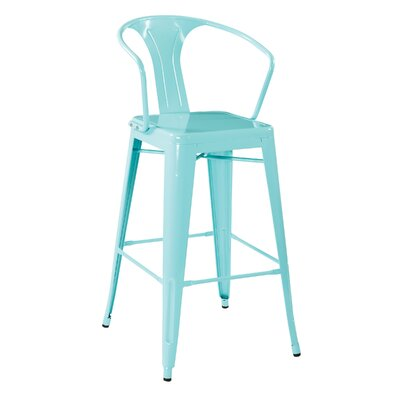 Wilkinson 30 Cafe Bar Stool Color: Mint