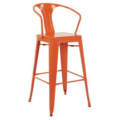 Wilkinson 30 Cafe Bar Stool Color: Orange