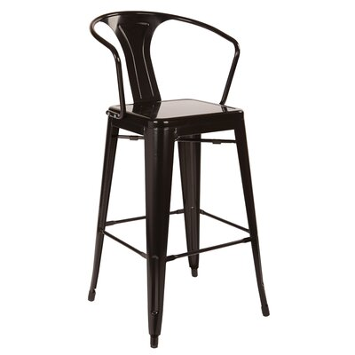 Wilkinson 30 Cafe Bar Stool Color: Black