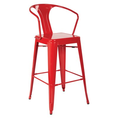 Willets 30 Cafe Bar Stool Color: Red