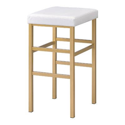 Skyla 30 Backless Bar Stool Fabric: White