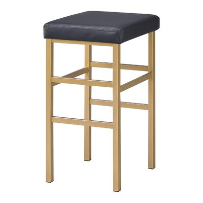 Skyla 30 Backless Bar Stool Fabric: Black
