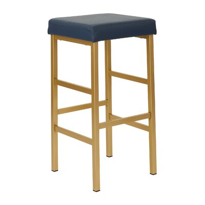 Skyla 30 Backless Bar Stool Fabric: Blue