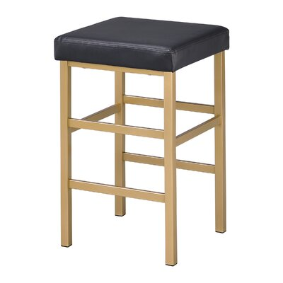 Skyla 26 Backless Bar Stool Fabric: Black