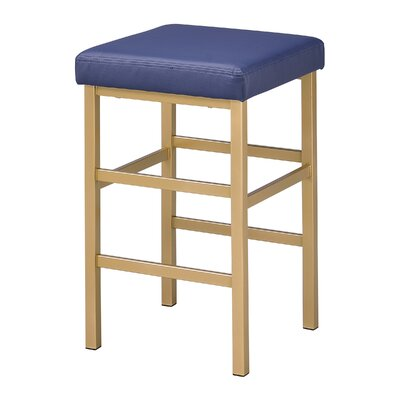 Skyla 26 Backless Bar Stool Fabric: Blue