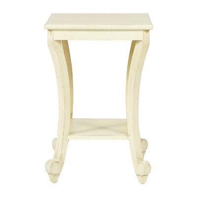 Daren End Table Color: Antique White