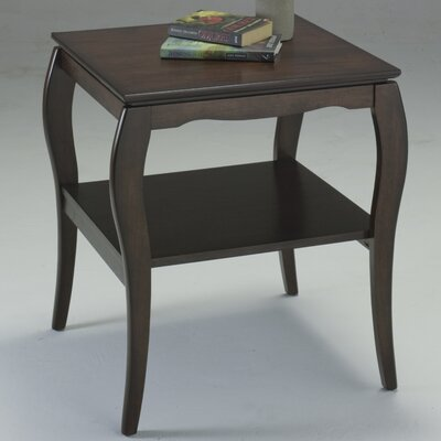 No credit check financing Brighton End Table Finish: Espresso...