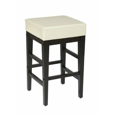 25.5 Bar Stool Upholstery: Cream