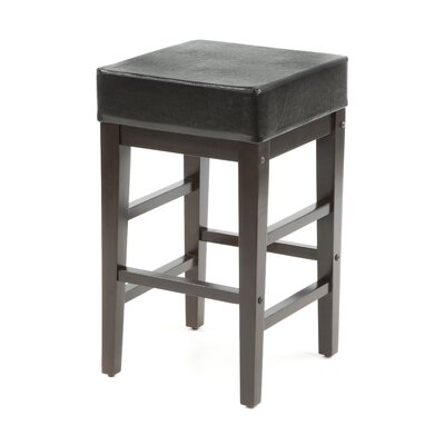 Kenji 25.5 Bar Stool Upholstery: Black