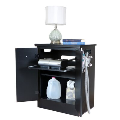 CPAP Nightstand Finish: Solid Black