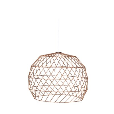 Array 1-Light Globe Pendant Shade Color: Copper