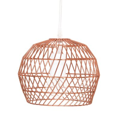 1-Light Mini Pendant Shade Color: Copper