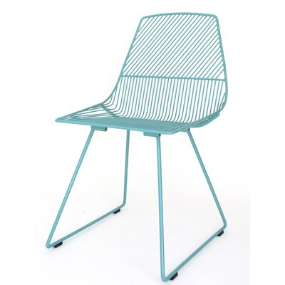 Ethel Side Chair Color: Aqua