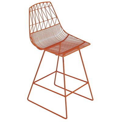 26 Bar Stool Color: Orange