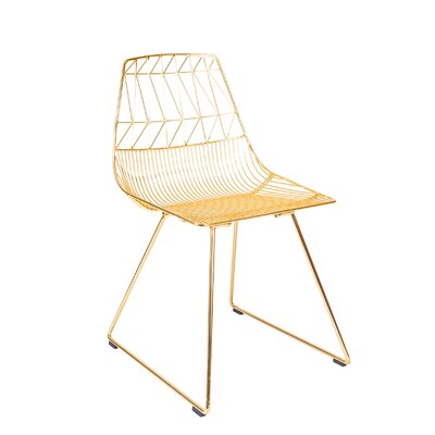 Lucy Side Chair Finish: Gold