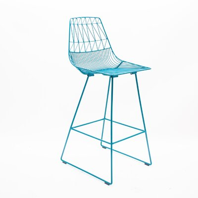 26 Bar Stool Color: Peacock Blue