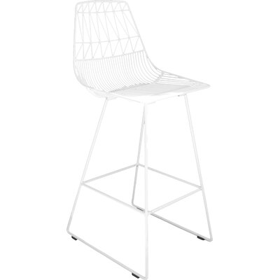 26 Bar Stool Color: White