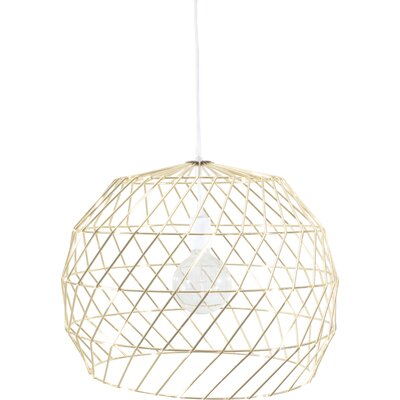 1-Light Mini Pendant Shade Color: Gold
