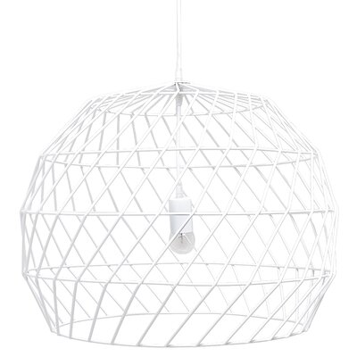 1-Light Mini Pendant Shade Color: White