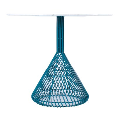 Bistro Table Base Base Color: Peacock Blue