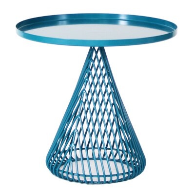 Cono Tray Table Color: Peacock Blue