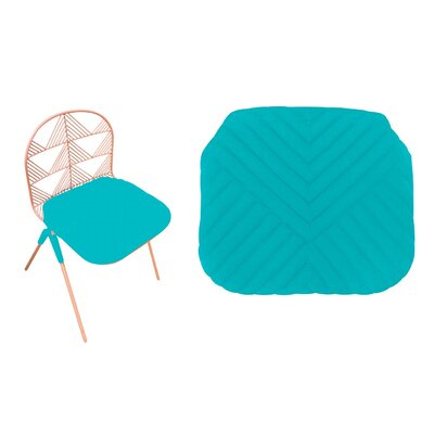 Betty Stacking Sunbrella Dining Chair Cushion (Set of 2) Fabric: Aqua