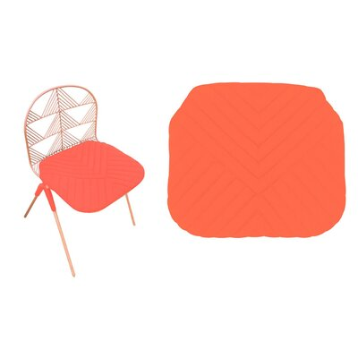 Betty Stacking Sunbrella Dining Chair Cushion (Set of 2) Fabric: Orange